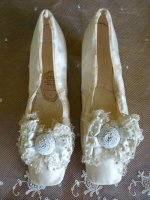 2 antique wedding shoes 1855