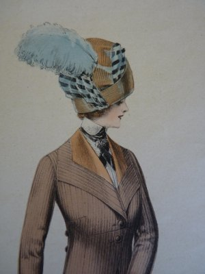 antique fashion gravure 1909