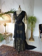 2 antique evening dress 1913