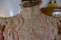 10b antique Rousset Paris society dress 1899