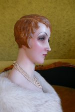 19 antique wax Bust 1920