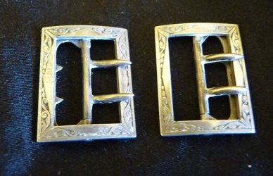 antique shoe buckles 1890