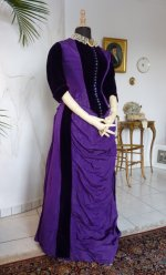 7 bustle gown 1885