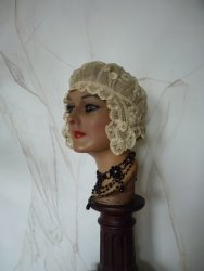 antique boudoir cap HB