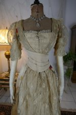 25 antique LEROUX Ball gown 1890