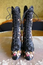 2 antique opera boots 1878