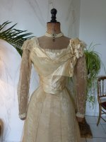 117 antique evening gown JEANNE HALLE 1899