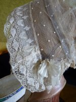 14 antique wedding bonnet 1840