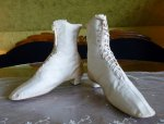 2 antique wedding boots 1875