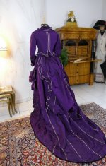 26 antique bustle dress 1874