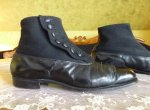 4 antique mens high button shoes