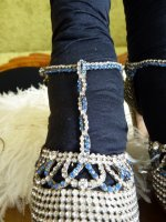 6 antique rhinestone shoes 1920