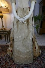 5 antique LEROUX Ball gown 1890