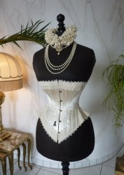 antique wedding corset 1880