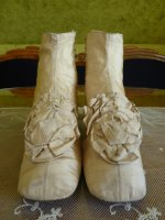 3 antique wedding shoes 1830