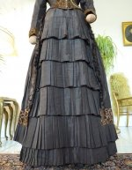 5a antique bustle gown