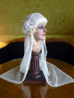 8 antique wedding cap veil 1920