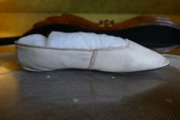 8 antique slip on shoes 1840