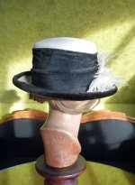 12 antique straw hat