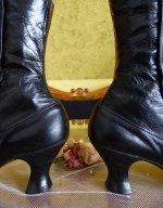 5 antique button boots