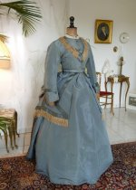 2 antique reception gown 1865