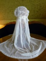 13 antique wedding cap veil 1920