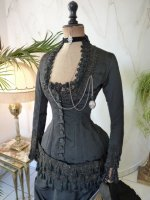 1 antique mourning dress 1879