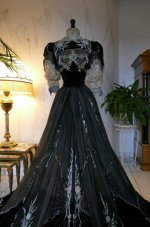 44 antique Gustave Beer gown 1906