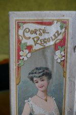 1 antique corset box 1904