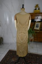 24 antique beaded flapper evening dress 1922