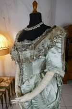 16 antique evening gown 1889