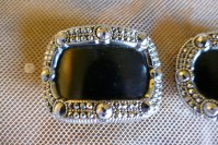 2 antique shoe buckles 1860