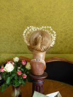 12 antique wax wedding tiara