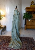 34 antique silk dress 1800