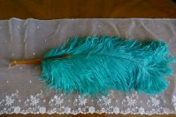 1 antique feather fan 1920