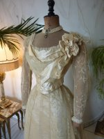 3 antique evening gown JEANNE HALLE 1899