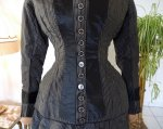 7 antique bustle day dress 1875