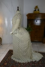 17 antique bustle Overgown 1880