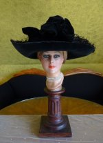 2 antique lampshade hat 1912