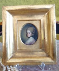 antique miniature portrait 1770