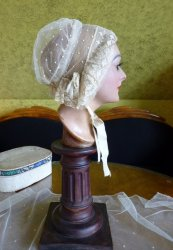 antique wedding bonnet 1840
