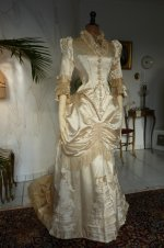 12 antique bustle wedding gown 1879