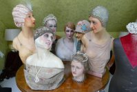 11 antique mannequins