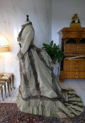 antique bustle dress empress eugenie 1876
