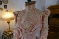 10a antique Rousset Paris society dress 1899