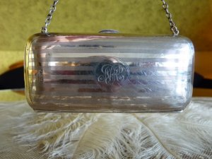 antique silver wallet 1918