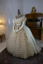 12 antique ball gown 1864