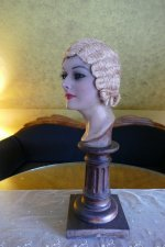4 antique hair cloche 1920