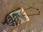2 antique beaded Purse 1825