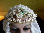 1 antique wax tiara 1920